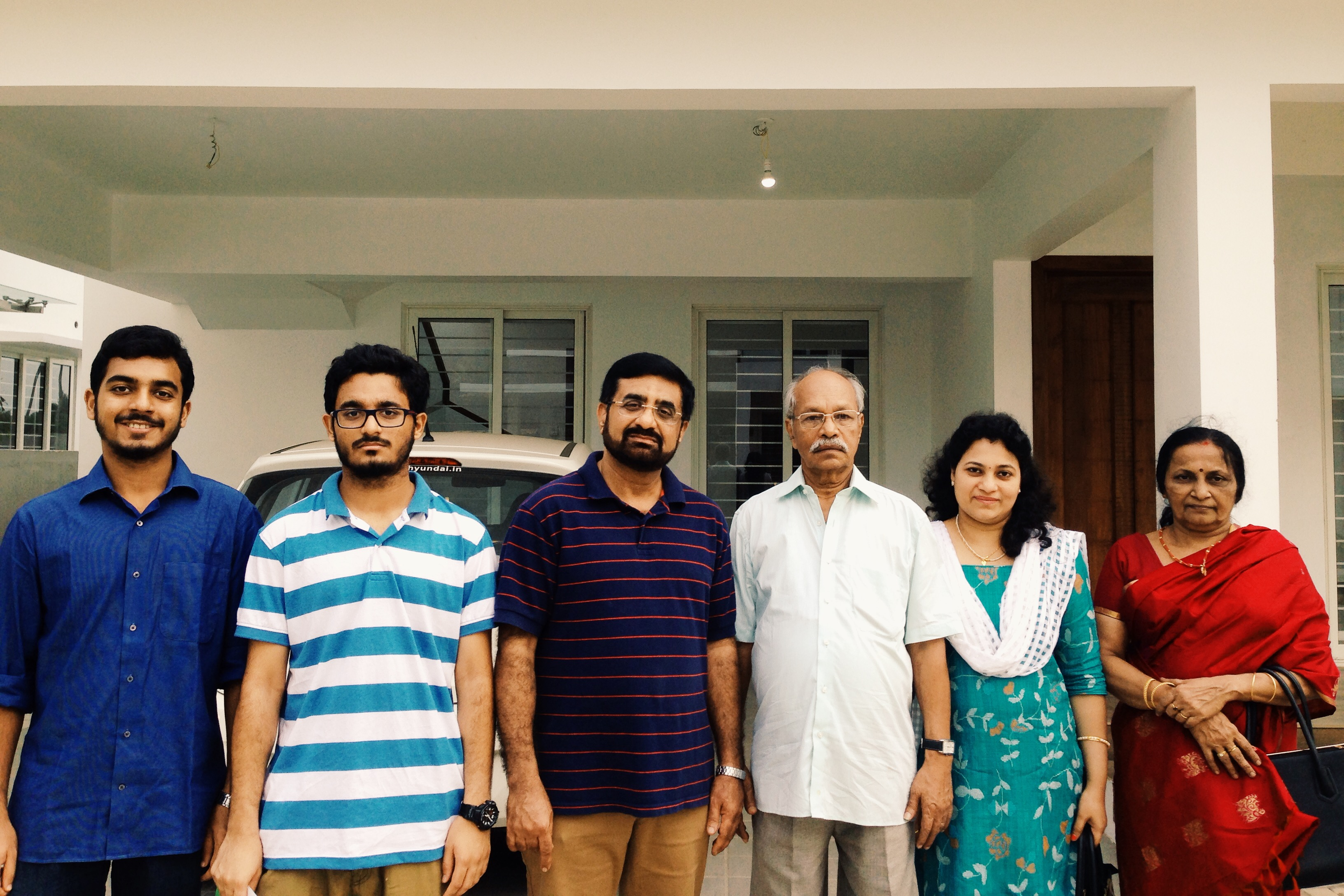 Mr.Radhakrishnan and Family Owner of Villa No: 4