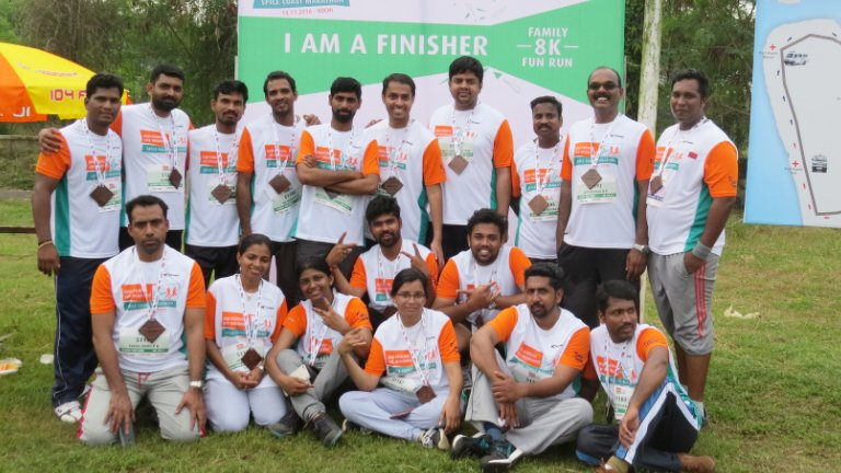 Abad Team At Spice Coast Marathon