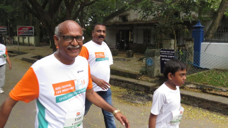 Spice Coast Marathon Run at Willingdon Island, Kochi