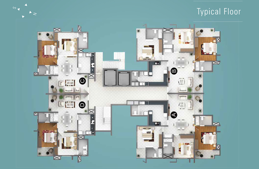 Typical Floor Plan of ikebana Luxury Apartments