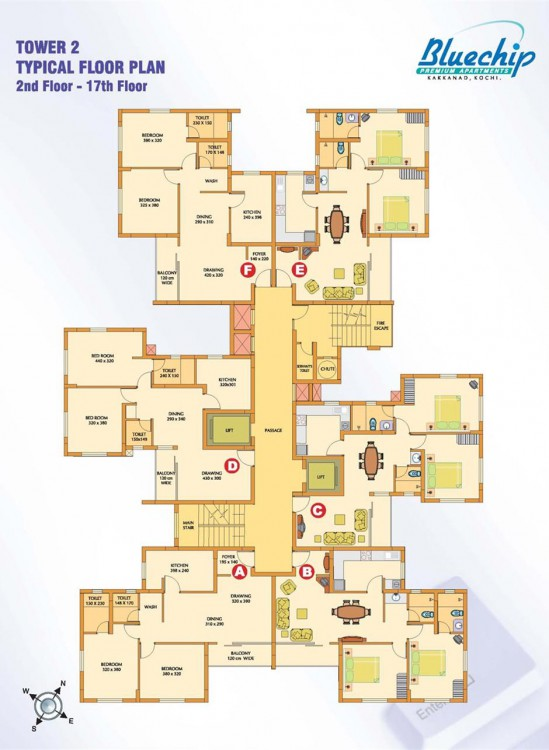 Blue Chip Tower 2 Premium Apartments Kakkanad Abad Builders