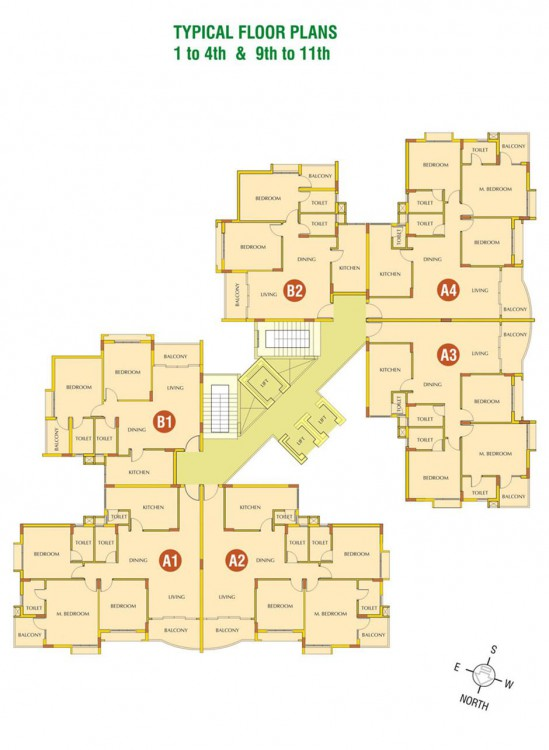 Typical Floor Plan (1st to 4th & 9th to 12th )