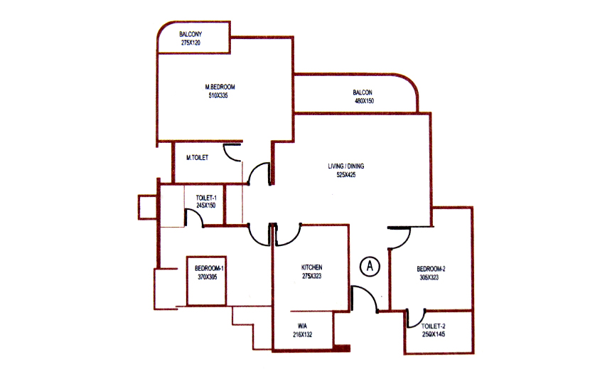 Typical Floor Plan of Knightsbridge Luxury Flats