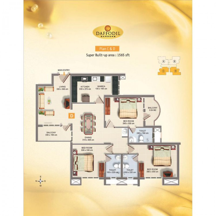 Typical Floor Plans -  Daffodil Gardens Premium Ap