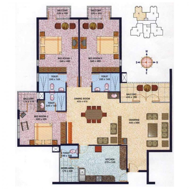 Floor plan - Bay Pride Mall Marine Drive, Kochi, K