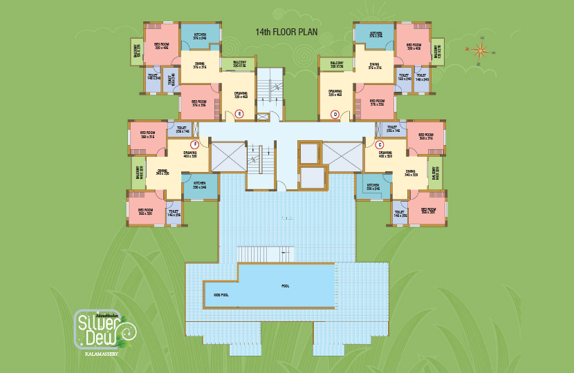 Typical Floor Plan of Silver Dew Premium Apartment