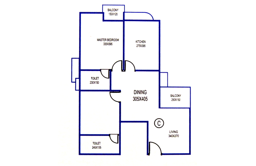 Floor Plan of Knightsbridge Flats Kadavanthra