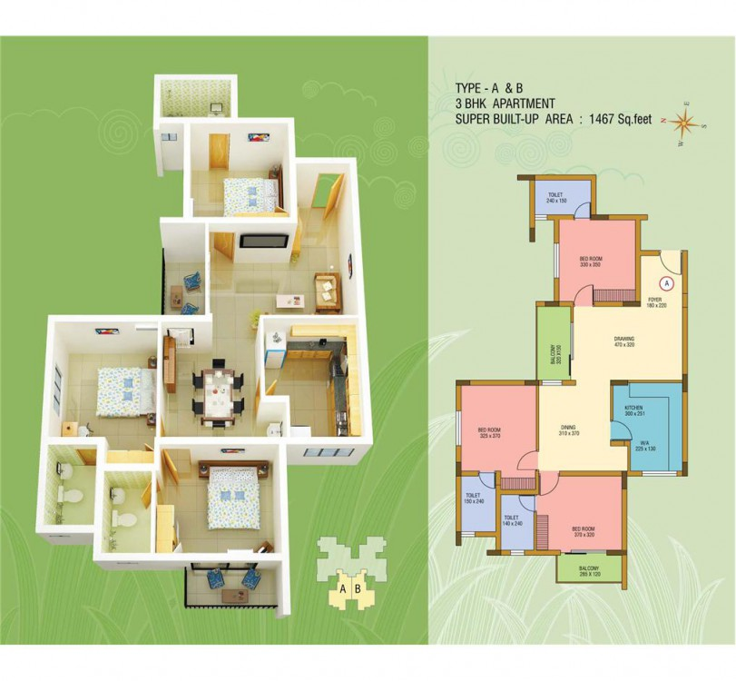 Typical Floor Plan - Abad Silver Dew Premium Apart