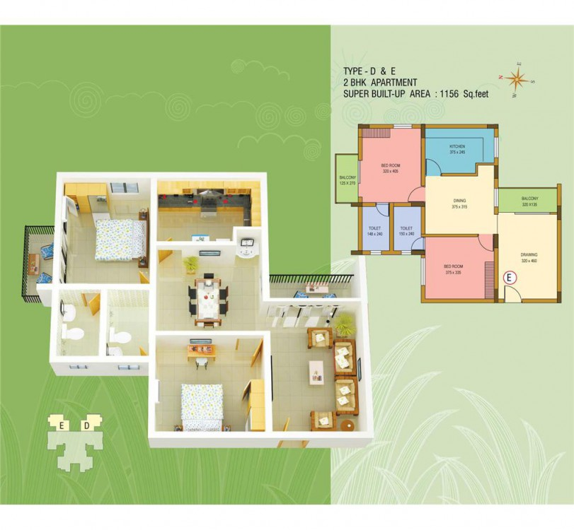 Typical Floor Plan-Silver Dew Premium Apartments,