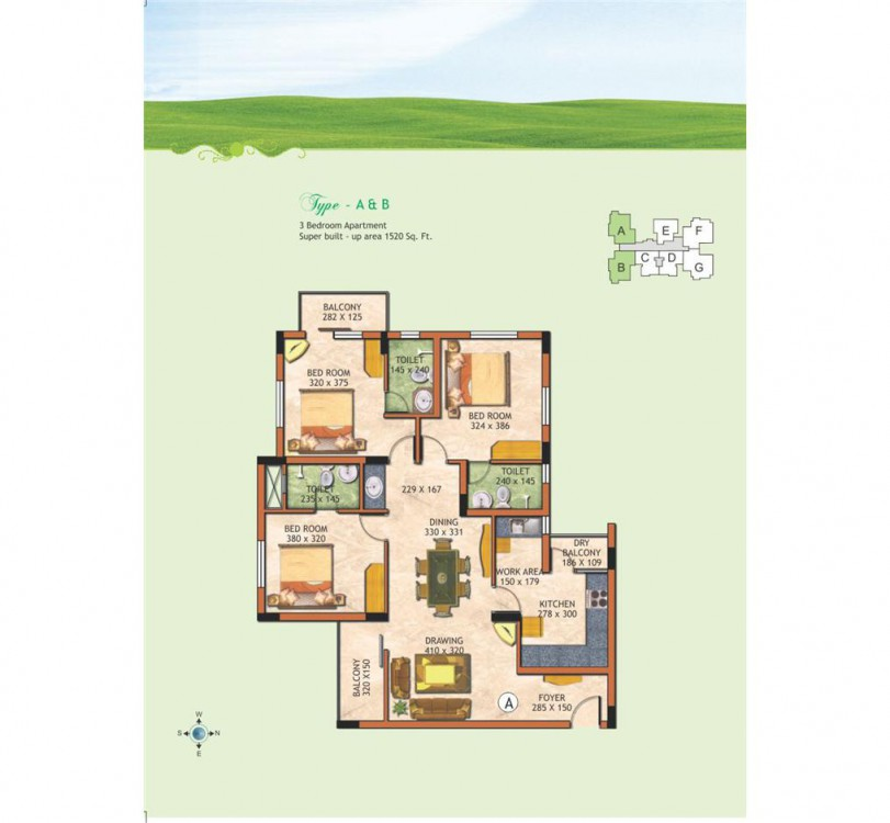Typical floor plan 2 - The Chancellor Garden Resid