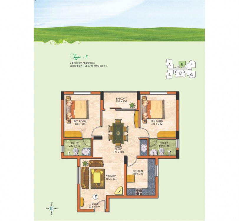 Typical floor plan - The Chancellor Garden Residen