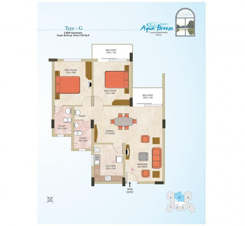 Abad builders - Typical plan of Aqua Breeze Luxury