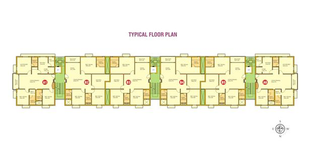 Floor plans - Lotus Lake BHK luxury Apartments, Ka