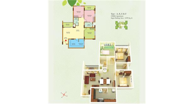Typical Floor plans -  Ebony Estate Apartments