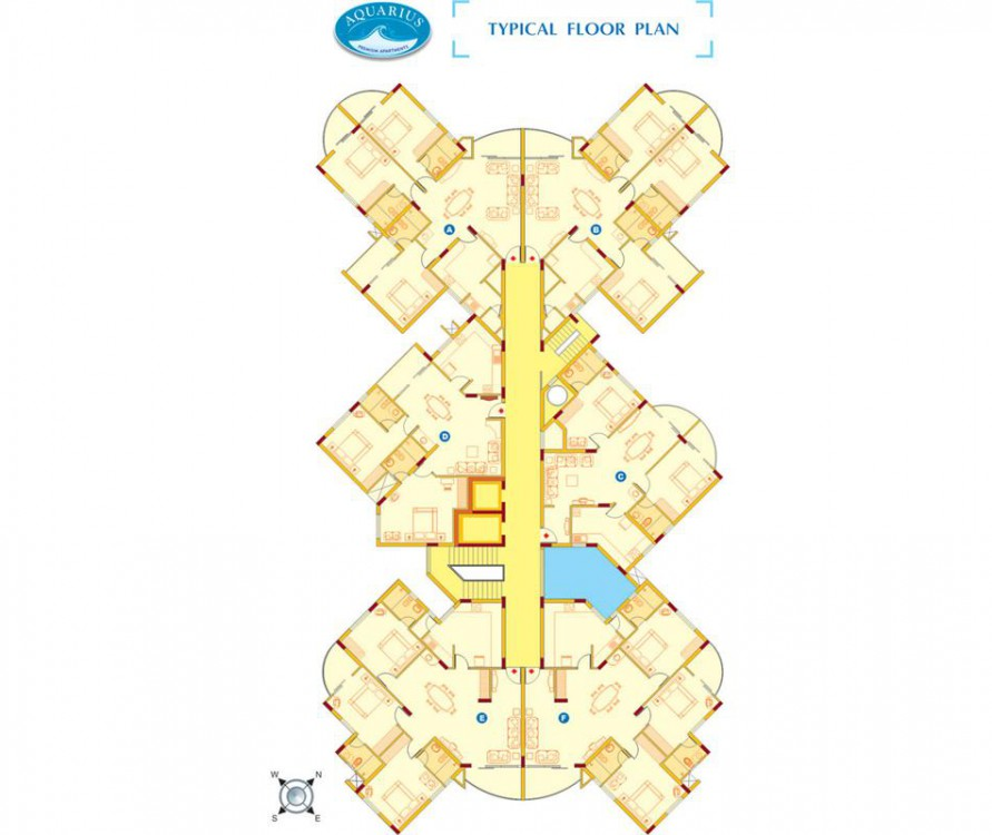 Floor plan - Aquarius 3BHK Luxury Apartments for s