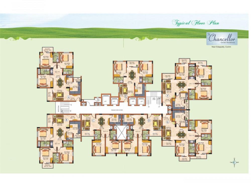 Typical floor plan The Chancellor Garden Residence