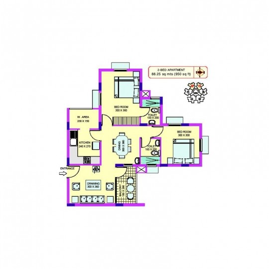 Floor plan - Oriental Gardens-South Block Best val