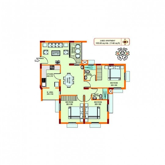 Floor plans - Oriental Gardens-South Block Best va