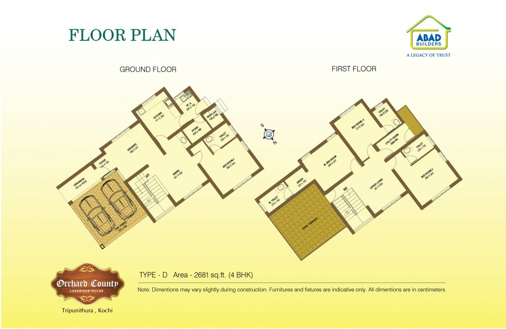 Typical Floor plans - Orchard County Luxurious Vil