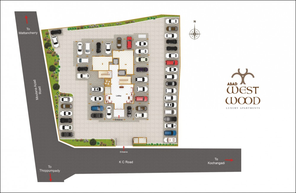 Site Plan -  West Wood Premium Apartments, Panayap