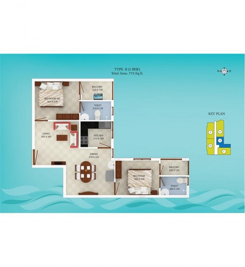 Typical Floor Plan - Spice Bay Value Homes, Kochi