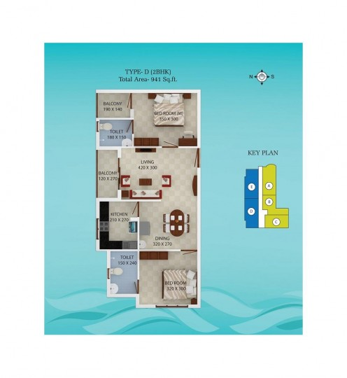 Typical Floor Plan 2 - Spice Bay Value Homes, Koch