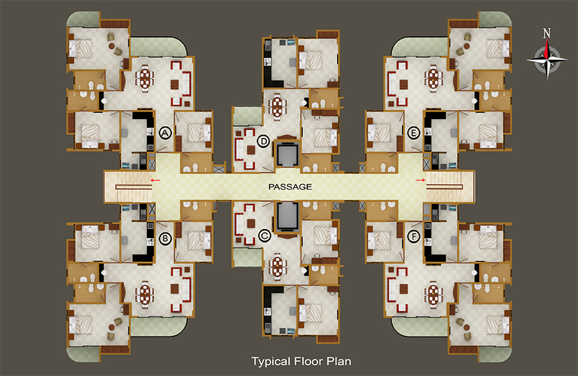 2 3 bhk apartments and flats in kadavanthra cochin abad for Apartment 2d plans