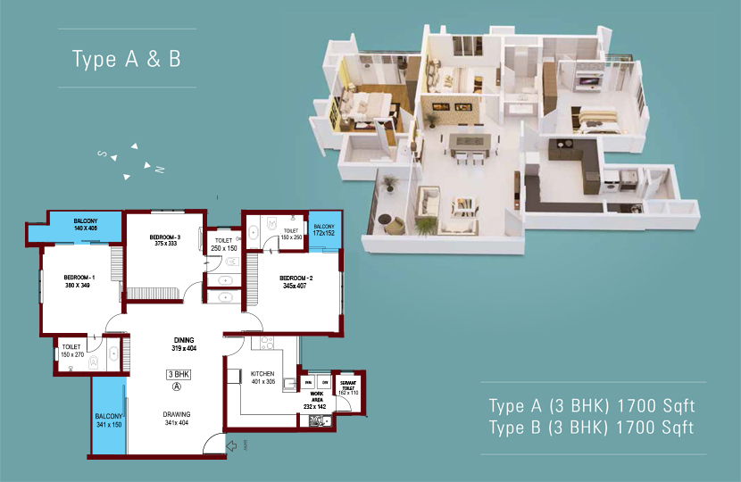 Typical Floor Plan of Abad ikebana Luxury Flats