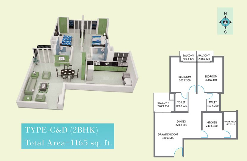 Typical Floor plan - Royal Gardens Premium Apartme