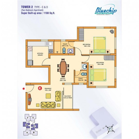 Typical Floor plan - Bluechip - BluechipTower 2 Pr