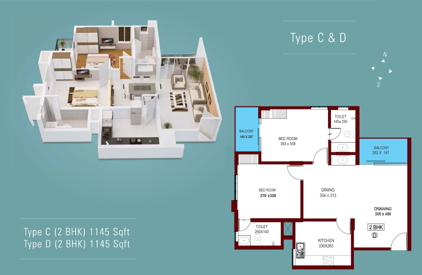 Floor Plan - Ikebana Luxury Apartments Cochin