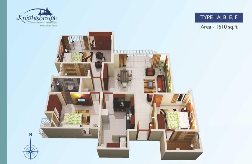 Typical Floor Plan - Knightsbridge Premium Flats