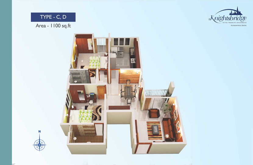 Floor Plan Knightsbridge Luxury Flats Kadavanthra