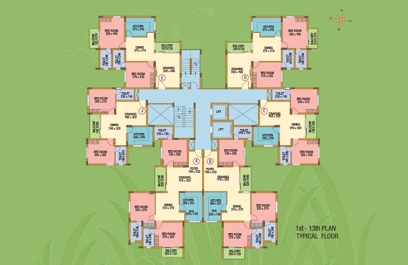 Typical Floor Plan-Silver Dew Premium Apartments k